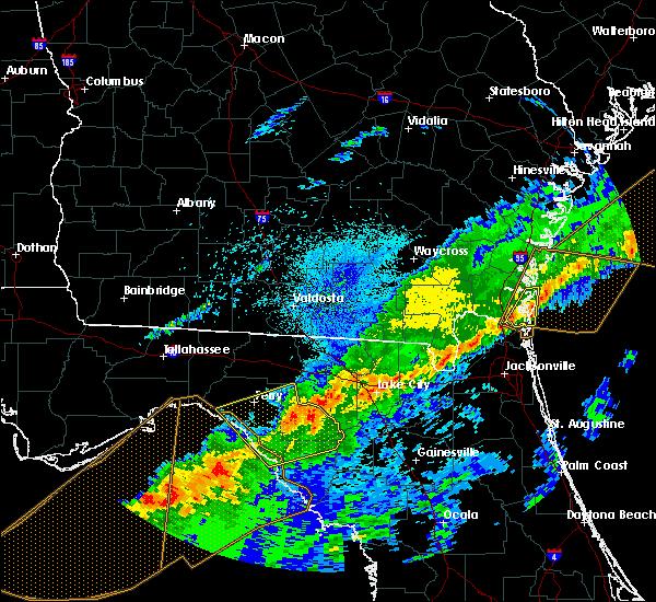 Radar Image for Severe Thunderstorms near Lake City, FL at 4/20/2020 6:37 AM EDT