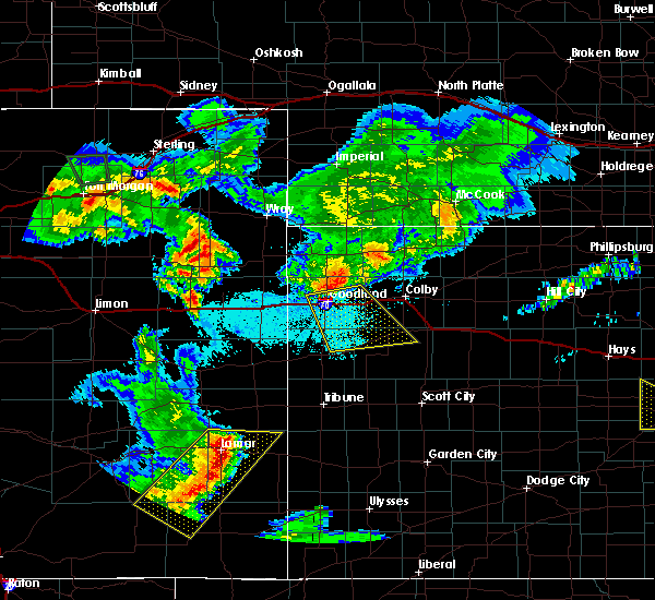 Radar Image for Severe Thunderstorms near Brewster, KS at 6/25/2015 10:24 PM MDT