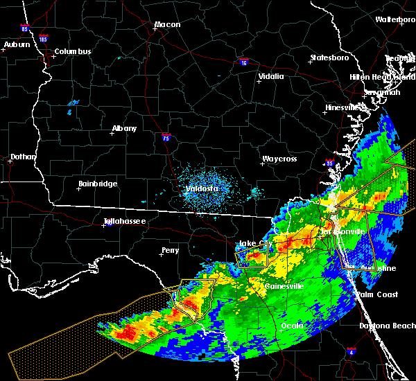 Radar Image for Severe Thunderstorms near Cross City, FL at 4/20/2020 7:30 AM EDT