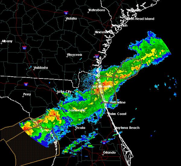 Radar Image for Severe Thunderstorms near Jacksonville, FL at 4/20/2020 7:57 AM EDT