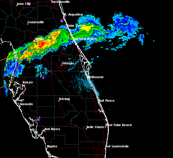 Radar Image for Severe Thunderstorms near Ponce Inlet, FL at 4/20/2020 10:15 AM EDT