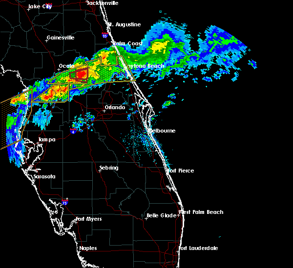 Radar Image for Severe Thunderstorms near Lady Lake, FL at 4/20/2020 10:23 AM EDT