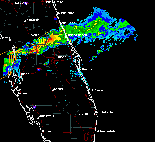 Radar Image for Severe Thunderstorms near Lady Lake, FL at 4/20/2020 10:40 AM EDT