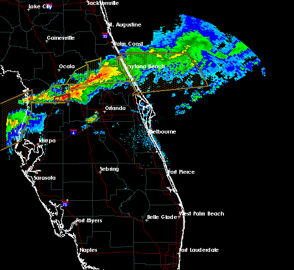 Radar Image for Severe Thunderstorms near Ponce Inlet, FL at 4/20/2020 10:47 AM EDT