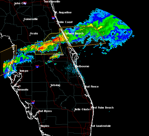 Radar Image for Severe Thunderstorms near Orange City, FL at 4/20/2020 11:02 AM EDT