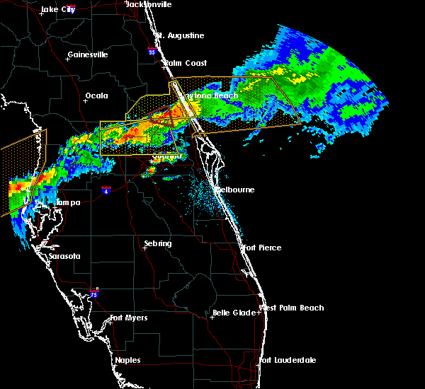 Radar Image for Severe Thunderstorms near Orange City, FL at 4/20/2020 11:13 AM EDT