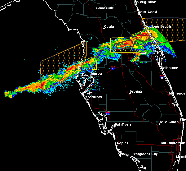Radar Image for Severe Thunderstorms near Jasmine Estates, FL at 4/20/2020 11:18 AM EDT