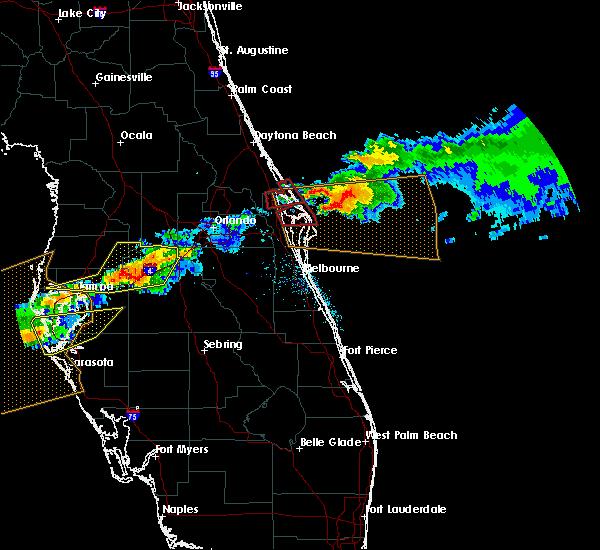 Radar Image for Severe Thunderstorms near Oak Hill, FL at 4/20/2020 12:43 PM EDT