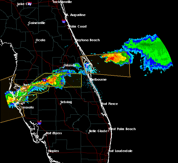 Radar Image for Severe Thunderstorms near Buenaventura Lakes, FL at 4/20/2020 1:08 PM EDT