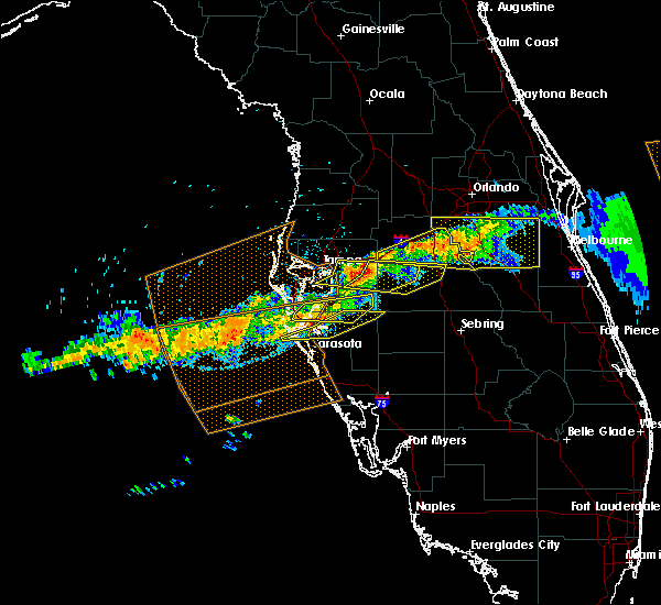 Radar Image for Severe Thunderstorms near Cortez, FL at 4/20/2020 1:30 PM EDT