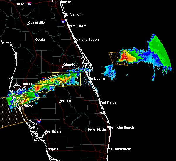 Radar Image for Severe Thunderstorms near Buenaventura Lakes, FL at 4/20/2020 1:37 PM EDT