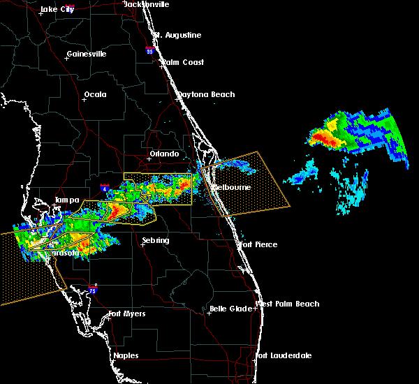 Radar Image for Severe Thunderstorms near Alturas, FL at 4/20/2020 1:58 PM EDT