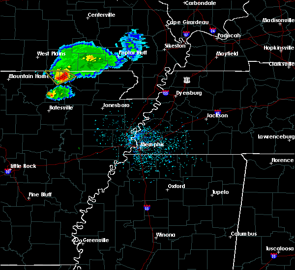 Radar Image for Severe Thunderstorms near Hardy, AR at 4/20/2020 5:24 PM CDT