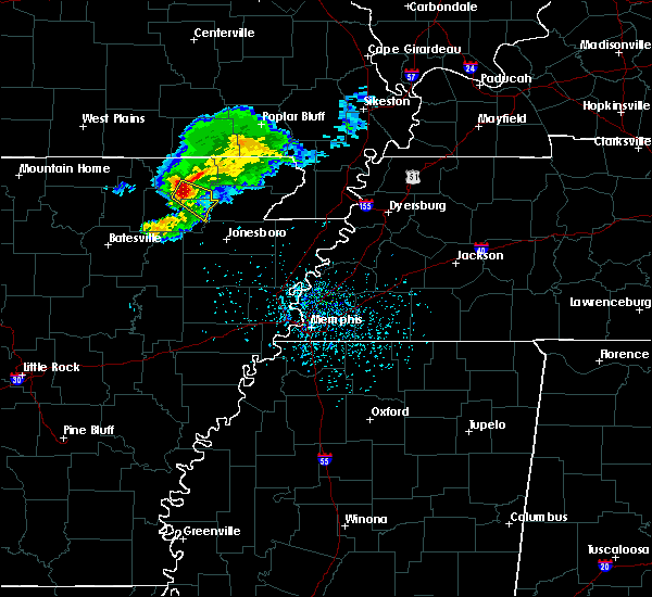 Radar Image for Severe Thunderstorms near College City, AR at 4/20/2020 6:03 PM CDT