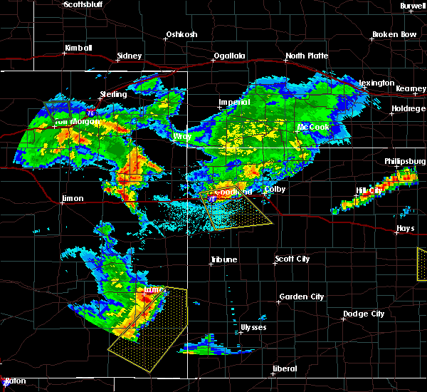 Radar Image for Severe Thunderstorms near Brewster, KS at 6/25/2015 10:31 PM MDT