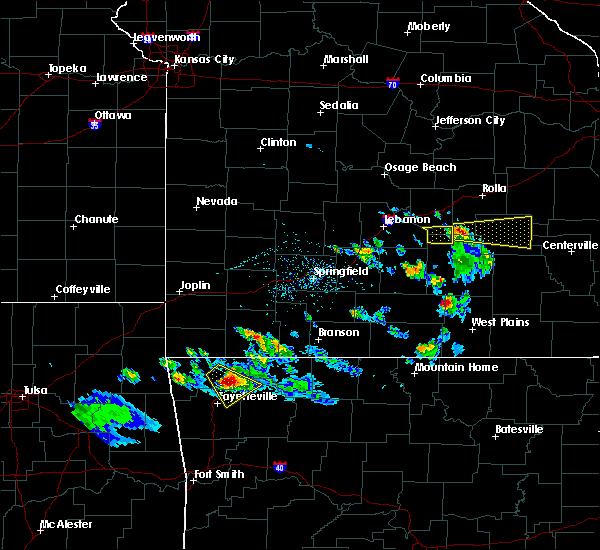 Radar Image for Severe Thunderstorms near Pomona, MO at 4/20/2020 6:44 PM CDT