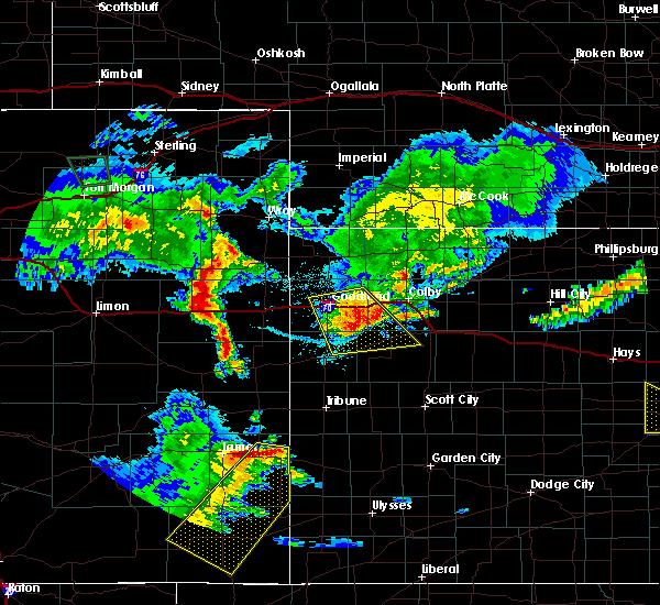 Radar Image for Severe Thunderstorms near Winona, KS at 6/25/2015 11:46 PM CDT