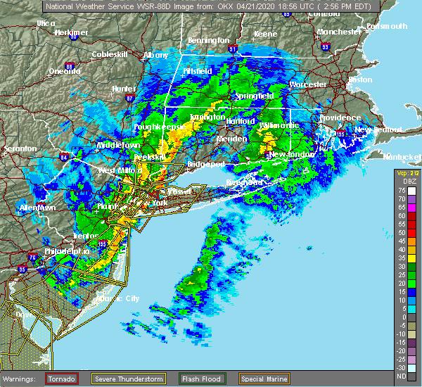 Radar Image for Severe Thunderstorms near Upper Brookville, NY at 4/21/2020 2:59 PM EDT