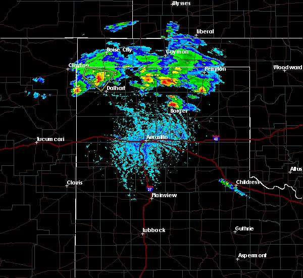 Radar Image for Severe Thunderstorms near Stinnett, TX at 4/21/2020 4:54 PM CDT