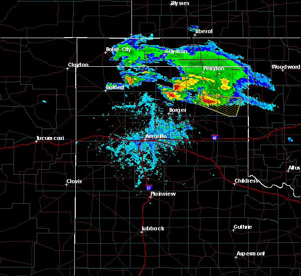 Radar Image for Severe Thunderstorms near Canadian, TX at 4/21/2020 6:18 PM CDT