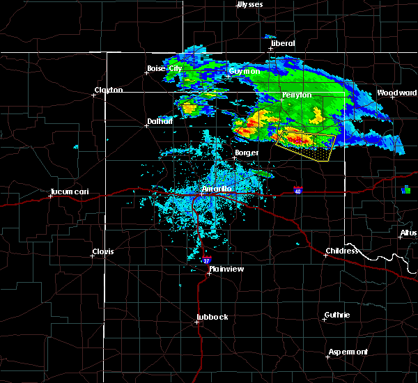 Radar Image for Severe Thunderstorms near Canadian, TX at 4/21/2020 6:29 PM CDT
