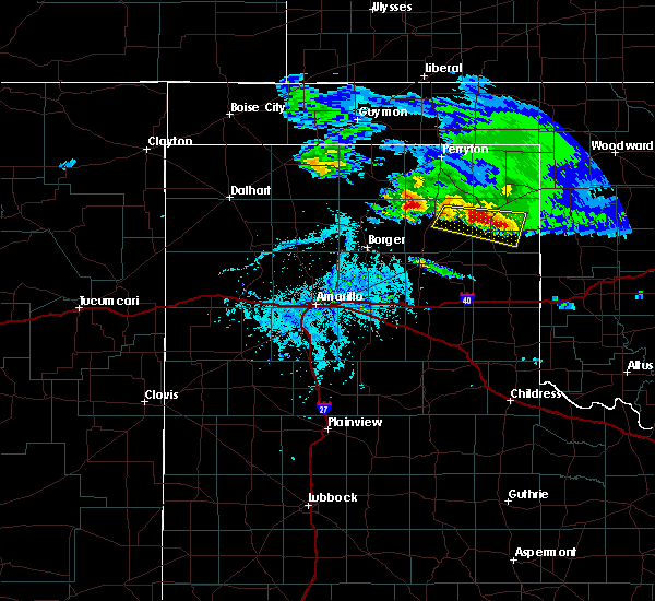 Radar Image for Severe Thunderstorms near Canadian, TX at 4/21/2020 6:49 PM CDT
