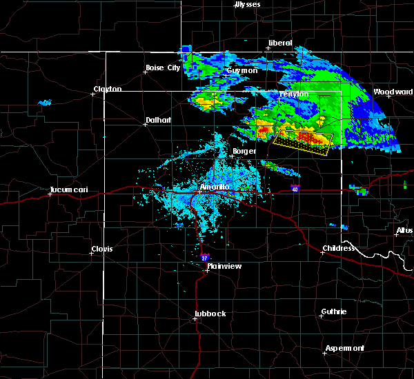 Radar Image for Severe Thunderstorms near Canadian, TX at 4/21/2020 6:53 PM CDT