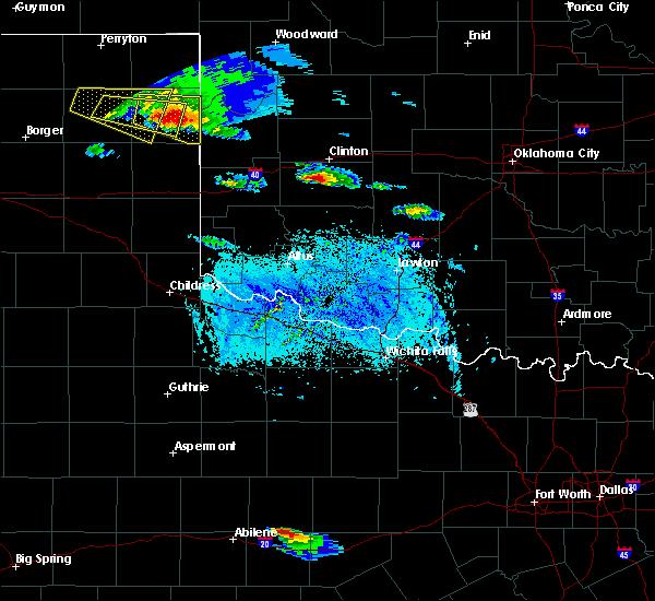 Radar Image for Severe Thunderstorms near Cheyenne, OK at 4/21/2020 7:18 PM CDT