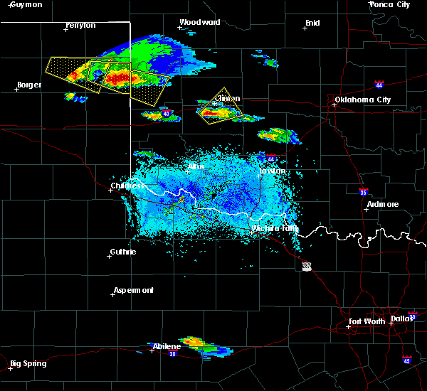 Radar Image for Severe Thunderstorms near Corn, OK at 4/21/2020 7:27 PM CDT
