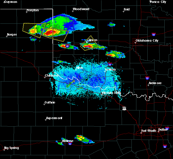 Radar Image for Severe Thunderstorms near Corn, OK at 4/21/2020 7:39 PM CDT