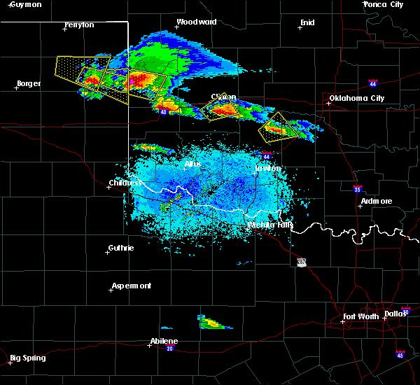 Radar Image for Severe Thunderstorms near Cheyenne, OK at 4/21/2020 7:58 PM CDT
