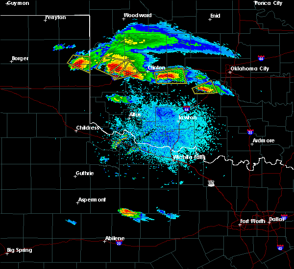 Radar Image for Severe Thunderstorms near Burns Flat, OK at 4/21/2020 8:43 PM CDT