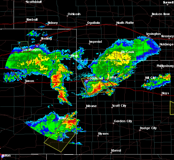 Radar Image for Severe Thunderstorms near Wallace, KS at 6/25/2015 11:02 PM MDT