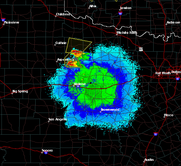 Radar Image for Severe Thunderstorms near Stamford, TX at 4/21/2020 10:14 PM CDT