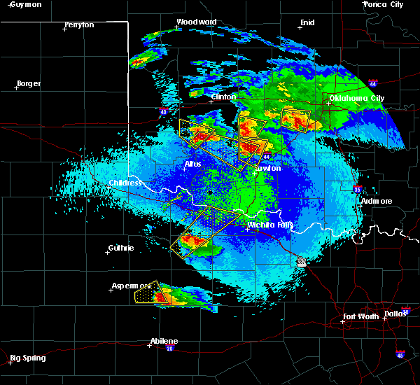 Radar Image for Severe Thunderstorms near Gotebo, OK at 4/21/2020 10:52 PM CDT