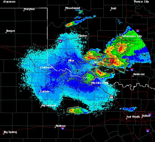 Radar Image for Severe Thunderstorms near Randlett, OK at 4/21/2020 11:59 PM CDT
