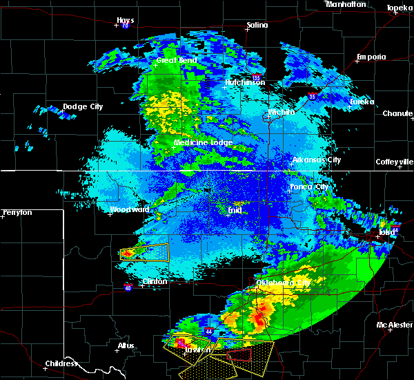 Radar Image for Severe Thunderstorms near Putnam, OK at 4/22/2020 12:07 AM CDT