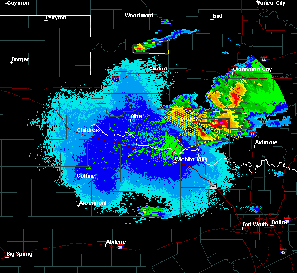 Radar Image for Severe Thunderstorms near Bray, OK at 4/22/2020 12:13 AM CDT