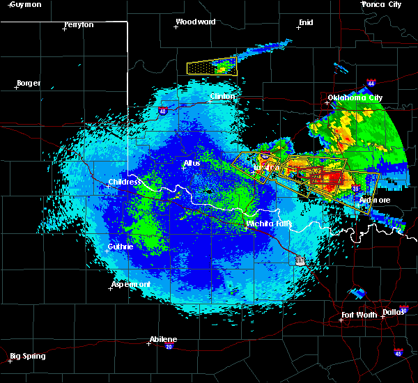 Radar Image for Severe Thunderstorms near Bray, OK at 4/22/2020 12:36 AM CDT