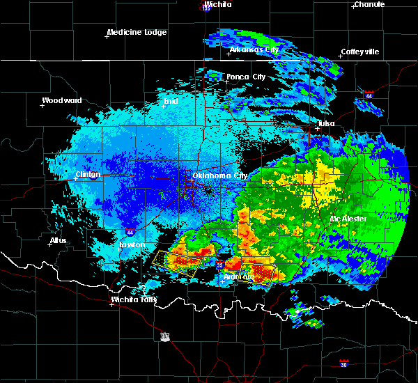 Radar Image for Severe Thunderstorms near Caney, OK at 4/22/2020 1:53 AM CDT