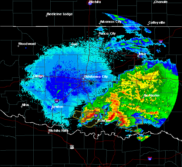 Radar Image for Severe Thunderstorms near Caney, OK at 4/22/2020 2:12 AM CDT