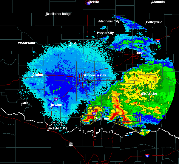 Radar Image for Severe Thunderstorms near Caney, OK at 4/22/2020 2:27 AM CDT