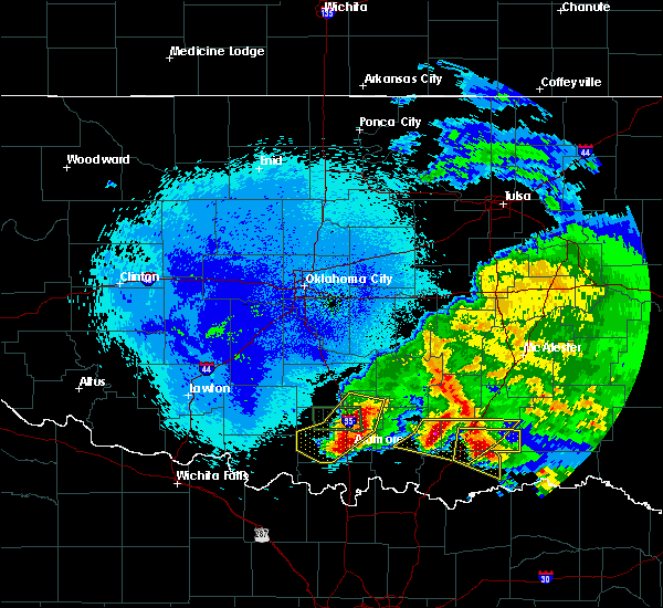 Radar Image for Severe Thunderstorms near Caney, OK at 4/22/2020 2:42 AM CDT