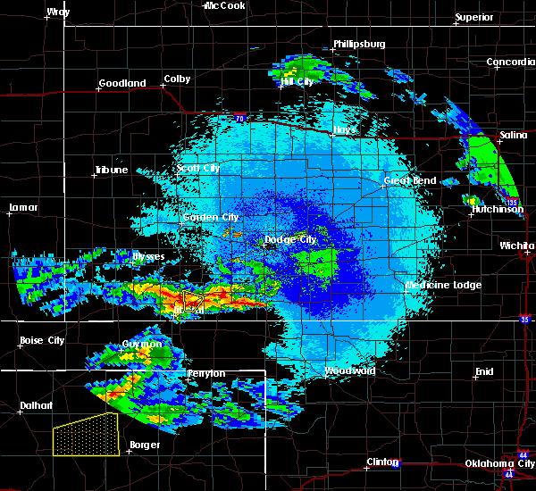 Radar Image for Severe Thunderstorms near Kismet, KS at 4/22/2020 2:52 AM CDT