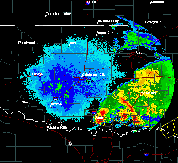 Radar Image for Severe Thunderstorms near Caney, OK at 4/22/2020 2:53 AM CDT