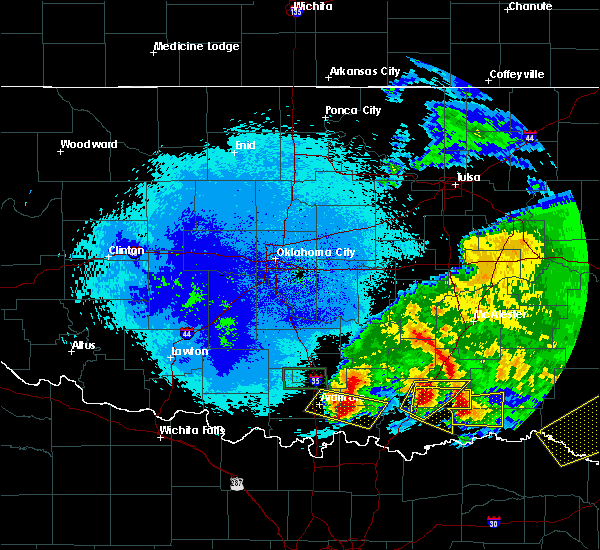 Radar Image for Severe Thunderstorms near Caney, OK at 4/22/2020 3:00 AM CDT