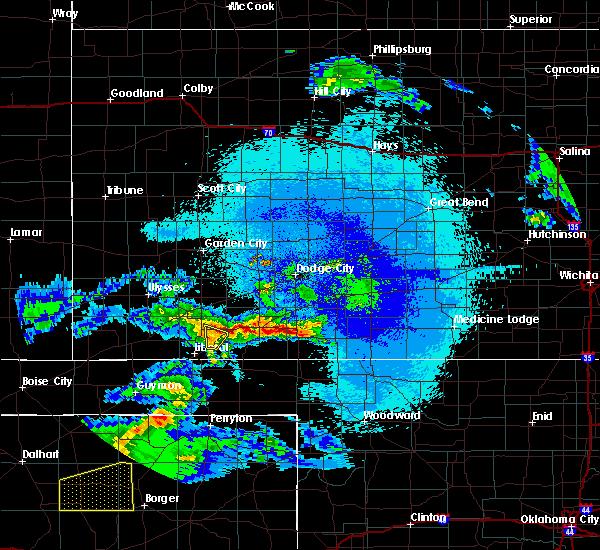 Radar Image for Severe Thunderstorms near Kismet, KS at 4/22/2020 3:11 AM CDT