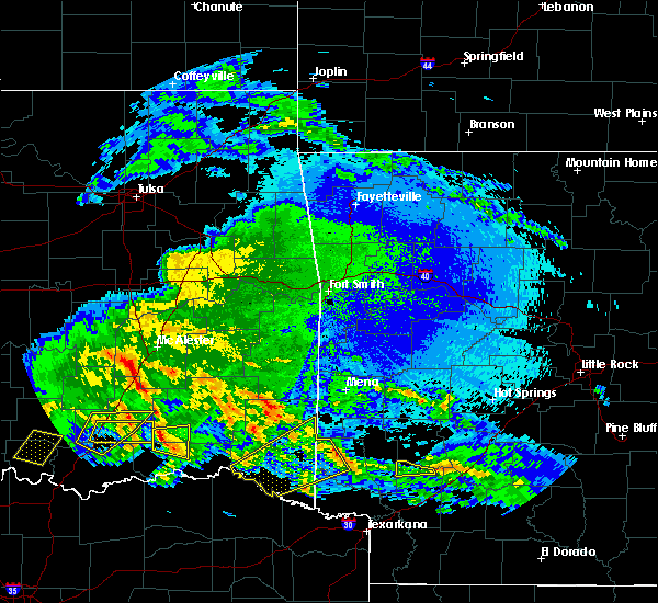 Radar Image for Severe Thunderstorms near Antlers, OK at 4/22/2020 3:11 AM CDT