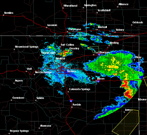Radar Image for Severe Thunderstorms near Platteville, CO at 6/25/2015 11:24 PM MDT