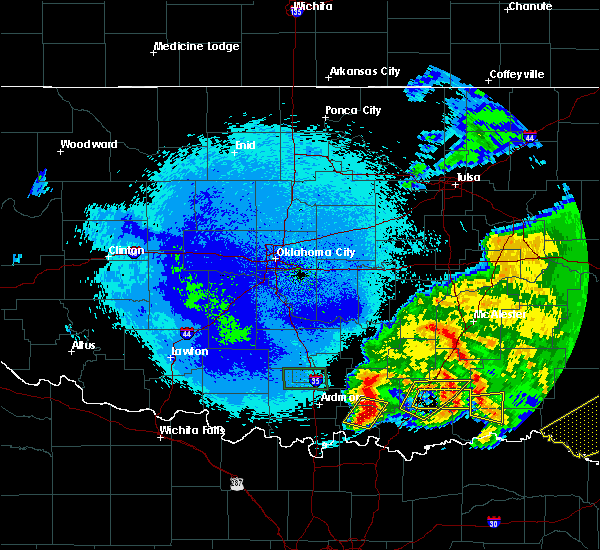 Radar Image for Severe Thunderstorms near Bee, OK at 4/22/2020 3:15 AM CDT